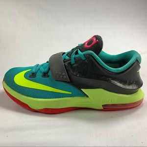 Nike KD VII Hyper Jade Basketball Shoes Size 5Y